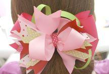 Making barrette bows / by Juliana Biggs