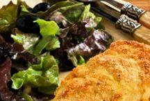 Kylling med pesto, ost og mandelmel