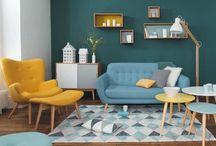 Vert Canard / J'adore cette couleur, chaude, profonde. Vous la retrouvez régulièrement dans mes créations. Et si je m'écoutais, elle serait sur tous les murs de la maison. Ah, mais ! Elle est déjà sur un mur de mon atelier !