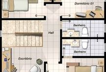 planta baixa modelo casa