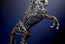 Metal Horse Sculptures