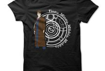 Doctor Who T-shirts / An eccentric yet compassionate extraterrestrial Time Lord zips through time and space to solve problems and battle injustice across the universe, travelling via the TARDIS (Time and Relative Dimensions in Space), which is his old and occasionally unreliable spaceship that resembles a blue police phone box (but changes its appearance depending on its surroundings) and is much, much larger inside than outside.