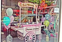 CARRITO ICE CREAM / Carrito vintage de helados + departamentos para los topping.