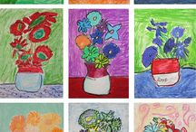 Famous Artist - Vincent Van Gogh / Art projects based on Van Gogh's work.