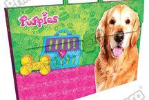 Maletines Plásticos Puppies / Línea Escolar Primavera Regresa a Clases con TODO