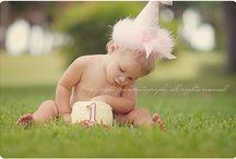 Outdoor Cake Smash / Baby's Birthday Celebration ideas... with cake - outside the studio!