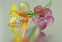 Желатиновые,карамельные цветы
