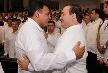 01 10 2012 - Javier Duarte acompañó a Rolando Zapata Bello en toma de protesta como Gob. de Yucatán / El gobernador de Veracruz Javier Duarte de Ochoa acompañó a Rolando Zapata Bello durante su toma de protesta como Gobernador Constitucional de Yucatán el día 01 de octubre de 2012.