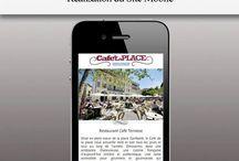 Nos Réalisations Sites Mobiles / Une webapp qui fonctionne sur tous les smartphones La web App s'adresse potentiellement à tous les téléphones de dernière génération, c'est en réalité un site Internet optimisé pour l'affichage sur les écrans des SmartPhones. De plus la technologie des Smart Phones offre des fonctionnalités dont il serait dommage de se passer ( Appel en un click, envoi d'sms, Géolocalisation …) Vos clients sont Mobiles, et votre entreprise !? Second Sens est spécialisé dans le développement de Web