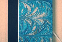 My Marbled Books / Hand Marbled paper on hand bound journals or notepads