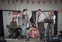 Photos of The Swinging Little Big Band (swing band) / The Swinging Little Big Band is a charismatic & exciting swing band available for hire for parties, balls, weddings and public performances. #swingband #weddingband #liveband