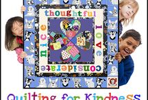 """Q4K-Peter / Follow the adventures of Peter's class as we read """"Lead With Your Heart,"""" the tale of a misunderstood pit bull and his person Reny, and create a Kindness Quilt based on lessons learned from the book."""