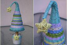 Moje rękodzieło... My handicraft - wicker / Artystyczne wędrówki Alicji - Artistic journeys Alice