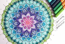 mandalas y laminas coloreados