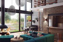 Styl loftowy / Loft style / Styl loftowy we wnętrzach zawładnął nie tylko sercami projektantów, ale i wszystkich lubiących wysokie i surowe przestrzenie oraz brak przepychu. Wnętrza urządzone w tym stylu wyróżnia brak tradycyjnego podziału pomieszczeń i zastąpienie ich dużą, otwartą przestrzenią - open spacem, pozwalającym na swobodny przepływ powietrza i światła. Styl ten cechuje także minimalizm, bez niepotrzebnych mebli, wyrafinowanych dekoracji czy zbędnych ozdób. Pomimo chłodu ma w sobie bardzo dużo uroku.