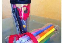 arte - garrafa pet e tampinhas de pet