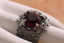 of amber, garnet, onyx, moonstone and some ammo as well :) / Rings, garments, elegance guns. Double wedding.