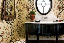 Walls: wallpaper, paint, tiles, paneling / by elisathon