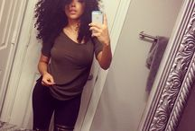 Curly hair look