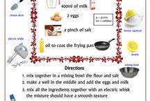 ricette in iglese