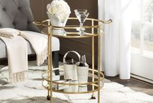 Chic Rolling Bar Carts
