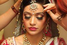 Indian Bridal hair, makeup & styling inspos