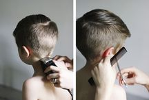Boy`s haircut