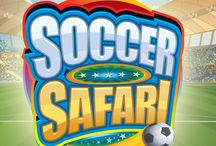 Soccer Safari / Microgaming presenta una squadra del tutto particolare: leoni, elefanti, giraffe, zebre, leopardi ed altri animali ancora si battono per vincere il titolo di campioni del safari. E ne vale la pena: il jackpot è infatti di 60.000 monete! Tra partite bonus e giocate gratuite, con Soccer Safari il divertimento non mancherà.