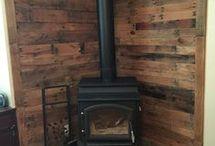 Disguise corner woodstove