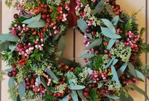 Christmas Wreaths / Traditional door hanging wreaths... and not so traditional...