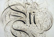 Skills: Ink / Inspirational calligraphic pieces from history and today.