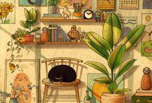 Ilustracion de interiores