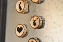 Wood slices magnets