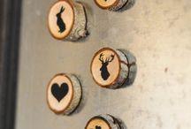 Wood slices magnets