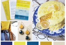 Mellow Yellows and Blue Hues / A collection of great colour combo's of Yellow and Blue