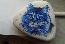Painted rocks / sassi dipinti con colori acrilici
