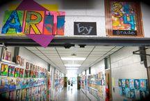 Artwork Display ideas / Ideas for displaying school artwork
