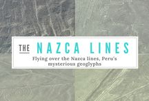 The Nazca Lines - Peru's mysterious geoglyphs! / Every year, thousands of tourists flocked Nazca to see the famous Nasca lines. The landmark might not be as famous as the Machu Picchu but the gigantic and mysterious shapes scratched into the plain desert surface remained a highlight of our trip in Peru. Things to Know Before Flying the Nazca Lines in Peru. Click on pin to keep reading!
