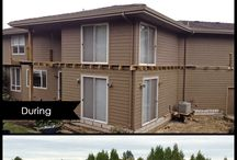 Before and After / Comparing side by side what a difference a new deck or fence can make.