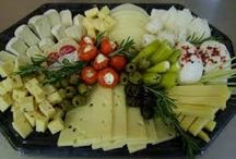Käse-Obstplatten