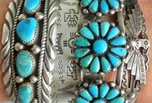 Turquoise and Silver Baubles--Lovely! / Different styles of jewelry that makes the West unique.  Love the combination of turquoise and silver!