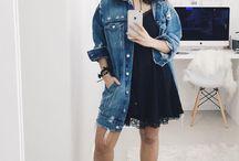 Vestido Básico / Looks e ideias de combinação pra usar e abusar de vestidos.