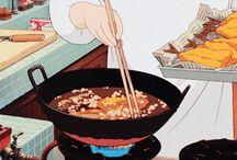 애니메이션 음식