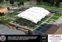 Sopladores, Parque Fundidora, cubierta removible