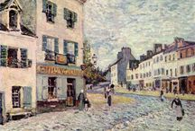Alfred Sisley / Alfred Sisley (1839-1899) was an Impressionist landscape painter who was born and spent most of his life in France, but retained British citizenship. He was the most consistent of the Impressionists in his dedication to painting landscape en plein air. Wikipedia / by Deb Venman