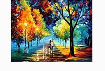 Oil paintings hand made / Most beautiful home decor, FREE SHIPPING in the US! High quality 100% hand-painted oil painting on canvas Canvas paintings are wrapped and stretched on durable wooden frame, ready to hang.