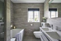 Contemporary Grey Bathrooms