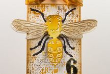 Tim holtz Bee, Butterfly and Dragonfly (and honeycomb)