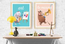Art Print Collections / Modern art prints for kids rooms, playrooms and classrooms.