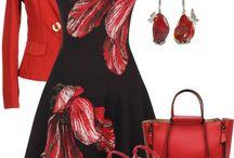 Saká červené, bordo a koral